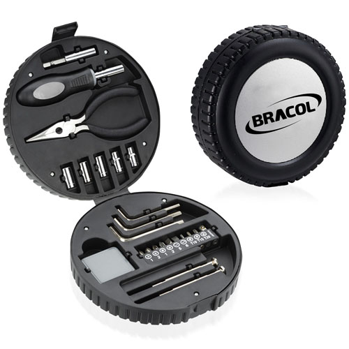 24 Piece Tire Shaped Tool Kit