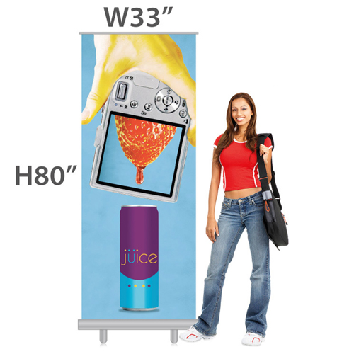 33 x 80 Inch - Outdoor Banner Stand With Bag