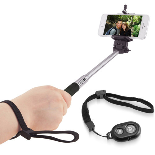 Extendable Selfie Stick with Bluetooth Remote